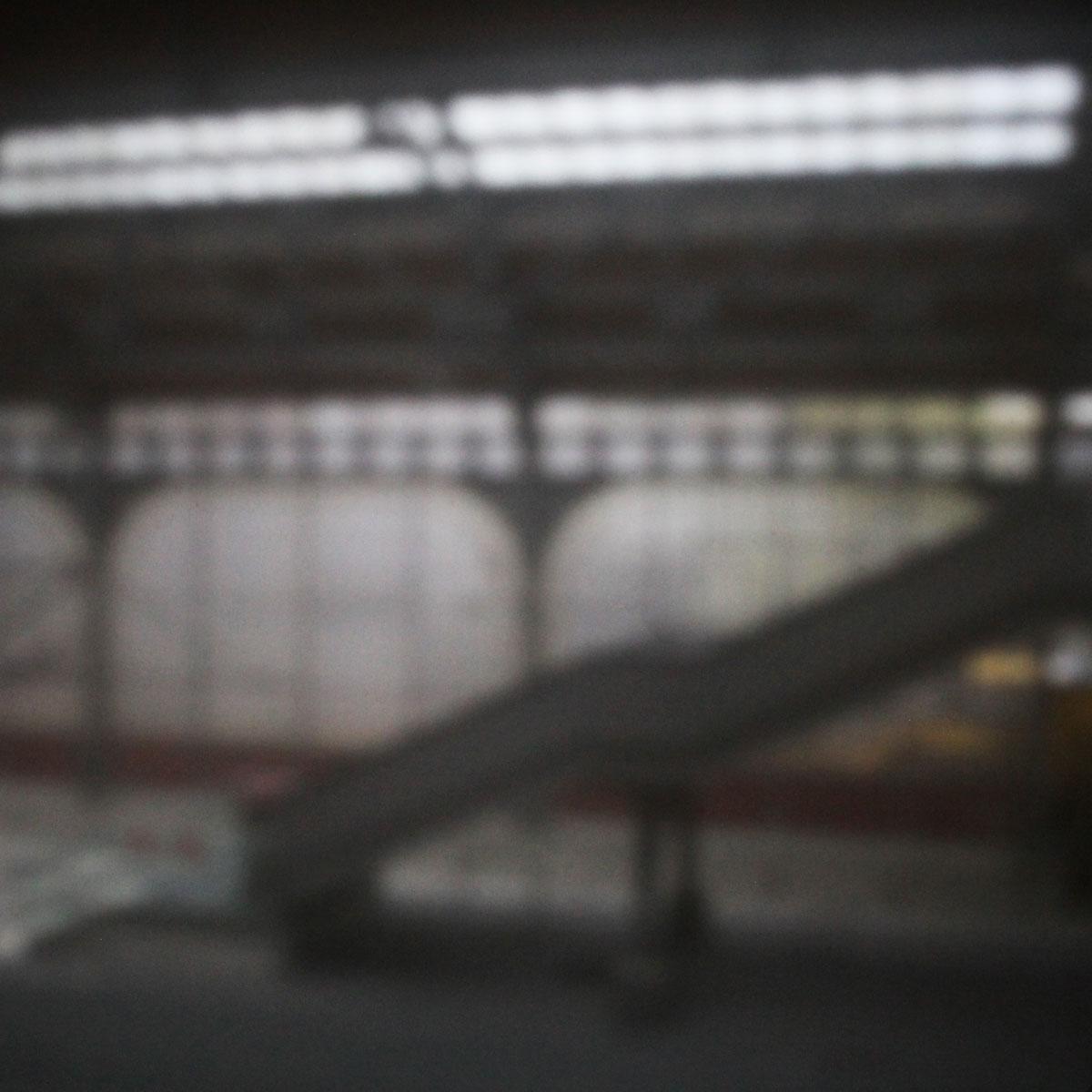 02 | Bahnhof Lübeck | 2021 | Camera Obscura | Pigmentdruck Alu-Dibond
