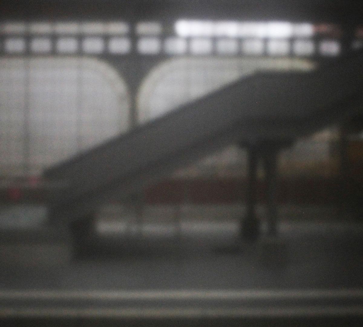 03 | Bahnhof Lübeck | 2021 | Camera Obscura | Pigmentdruck Alu-Dibond