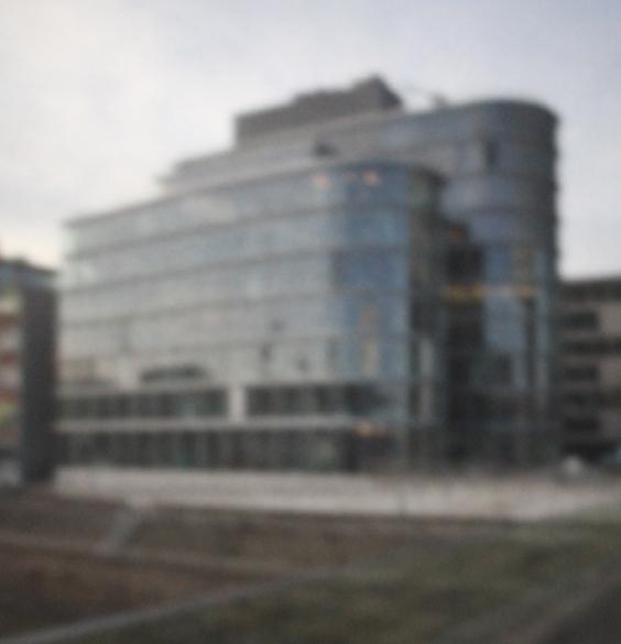 Hafen Düsseldorf I | 2015 | Camera Obscura | Pigmentdruck auf Alu-Dibond | 180 x 160 cm