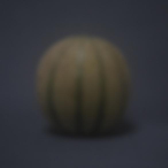 Honigmelone blau | 2016 | Camera Obscura | Pigmentdruck auf Alu-Dibond | 40 x 40 cm
