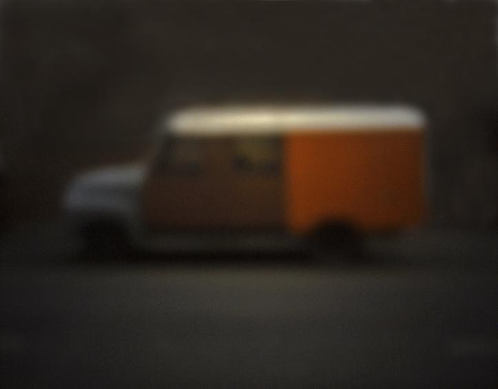 Roter Bus | 2012 | Camera Obscura | Pigmentdruck auf Alu-Dibond | 30 x 20 cm